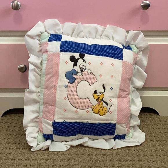 Vintage Disney baby Mickey C pillow